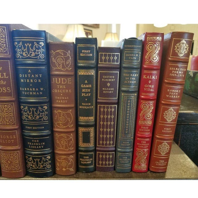 Collection of Franklin/Eaton Vintage Leather Books - Set of 40 For Sale - Image 4 of 8