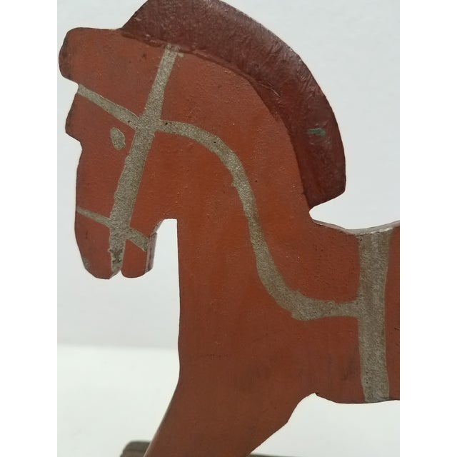 Antique English Wooden Toy Rocking Horse - Handmade For Sale - Image 4 of 9