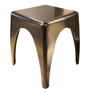 Henredon John Jay Brass Glazed Black Nickle Occasional Table For Sale