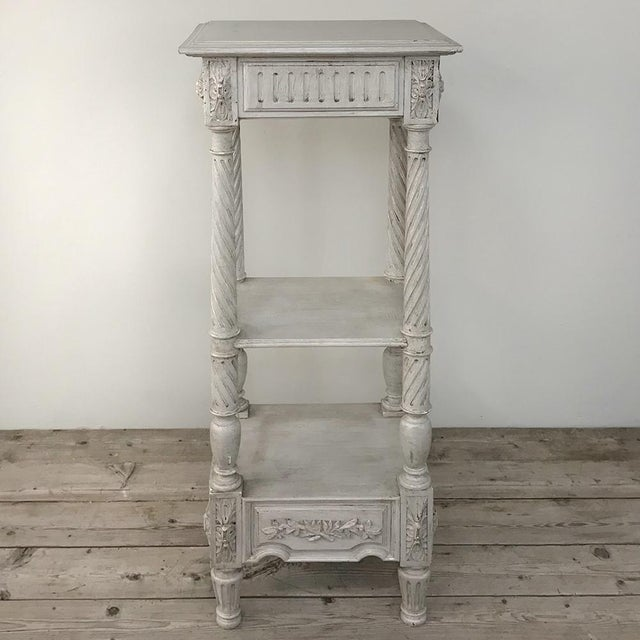 19th Century French Louis XVI Painted Pedestal For Sale - Image 4 of 13