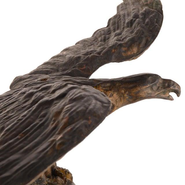 Flying Eagle Antique Copper Weathervane For Sale - Image 10 of 13