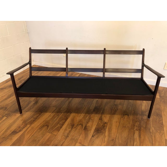 Vintage Mid Century Modern Sofa by Ole Wanscher for Poul Jeppesen For Sale - Image 10 of 13