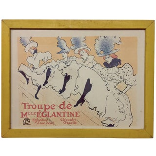Troupe de Mille Eglantine Lithograph For Sale