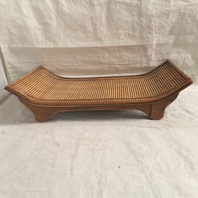 Contemporary Asian Style Carved Wood Display Stand/Tray For Sale In Los Angeles - Image 6 of 6