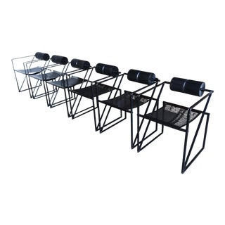 1980s Vintage Architect Mario Botta for Alias Seconda 602 Armchairs- Set of 6 For Sale