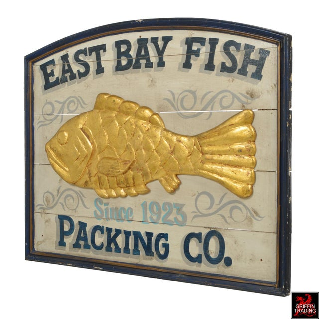 East Bay Fish Packing Company Trade Sign For Sale - Image 4 of 11