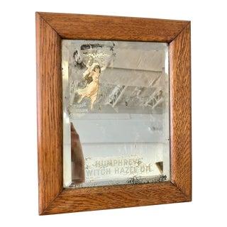 Vintage Mid Century Humphrey's Witch Hazel Folk Art Mirror For Sale