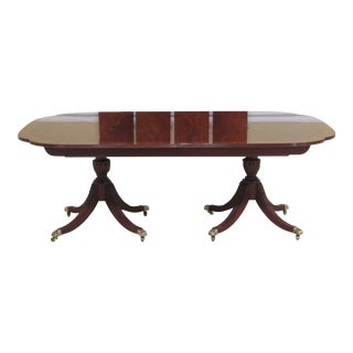 Karges Scalloped Corner Figural Mahogany Dining Room Table For Sale