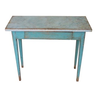 Blue Early 19th Century Swedish Gustavian Console Table For Sale