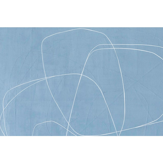 """Abstract Maura Segal, """"Denim"""" For Sale - Image 3 of 8"""