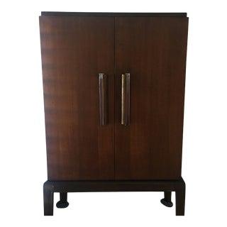 1920s Art Deco Donald Deskey 5 Shelve Wooden Cabinet For Sale