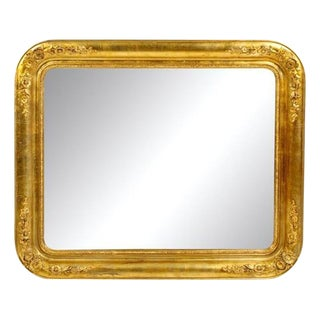 Late 19th Century Antique Giltwood Victorian Mirror For Sale