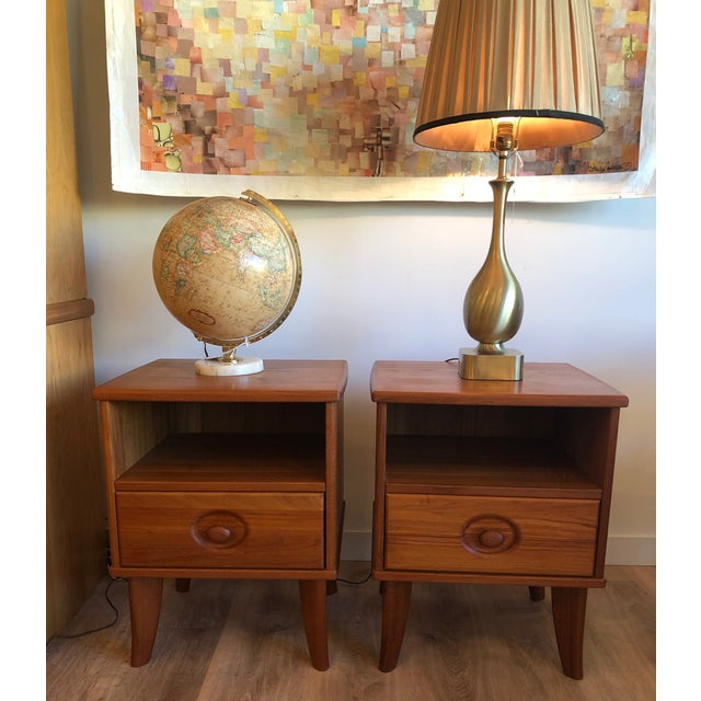 Pair of Danish nightstands with drawers in very good condition. Made by Torring.