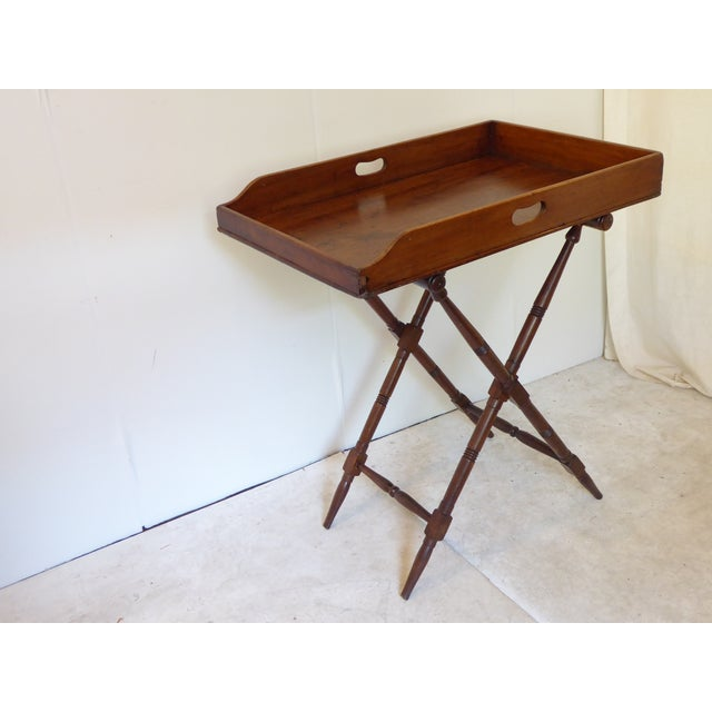 Late 19th Century 19th Century English Mahogany Butlers Tray on Stand For Sale - Image 5 of 5