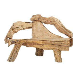 Swedish Driftwood Lounge Chair / Bench