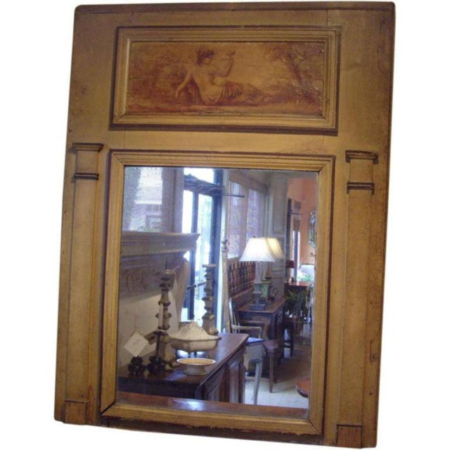 Early 19th C. Directoire' Trumeau Mirror For Sale - Image 4 of 6