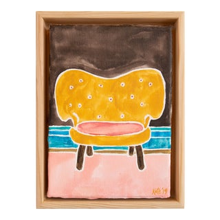 Kate Lewis Gold Chair Original Painting For Sale