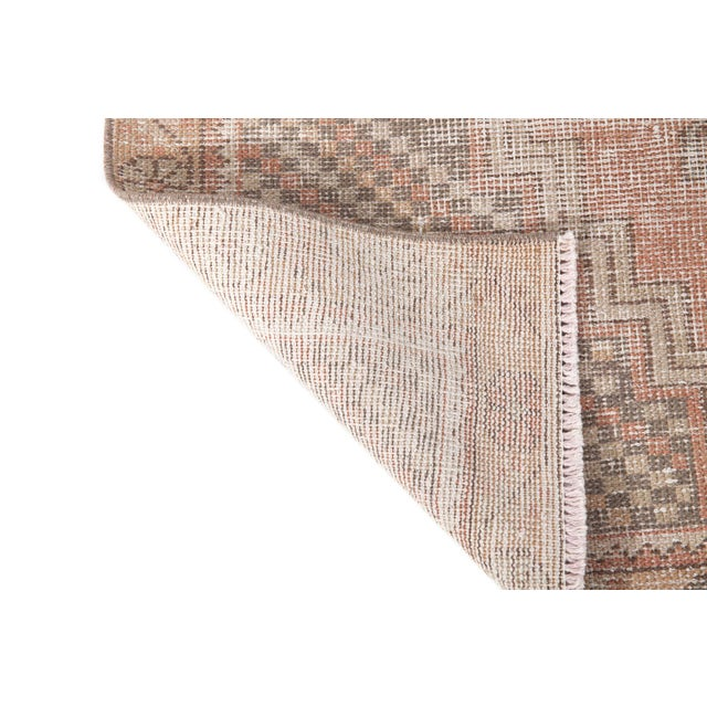 Turkish 1960s Vintage Distressed Small Area Rug - 3′5″ × 5′4″ For Sale - Image 3 of 6