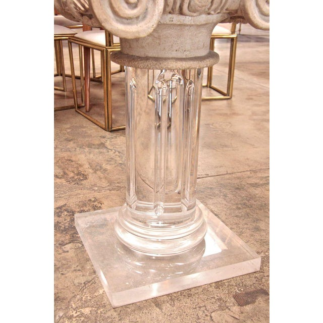 18th Century Granite Top Column with Plexi Base For Sale In Los Angeles - Image 6 of 9
