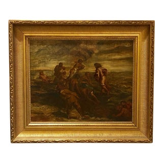 """The Fisherman"" Oil Painting, France Circa 1830 For Sale"