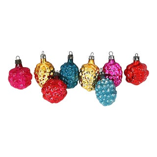 1930s Mercury Glass Ornaments, Set of 8 For Sale