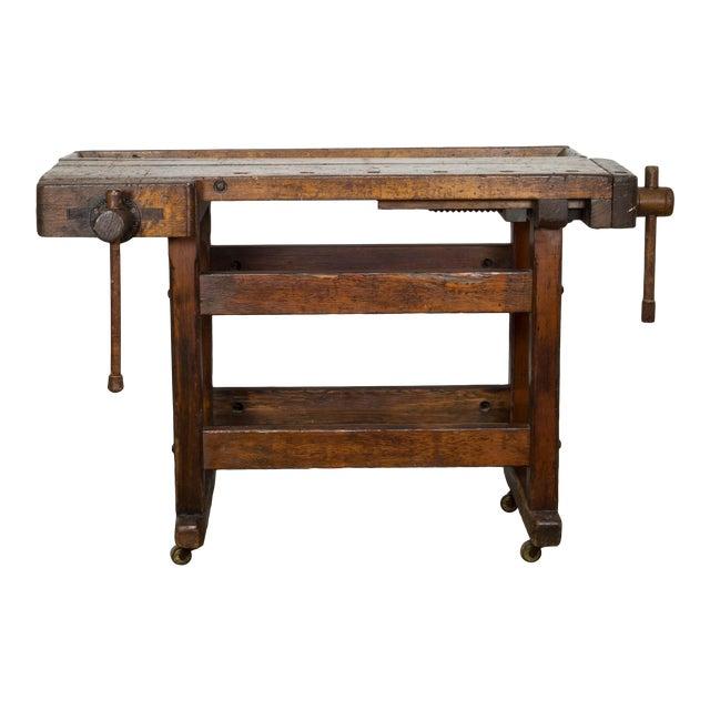 Black Walnut and Douglas Fir American Carpenter's Workbench C.1900 For Sale