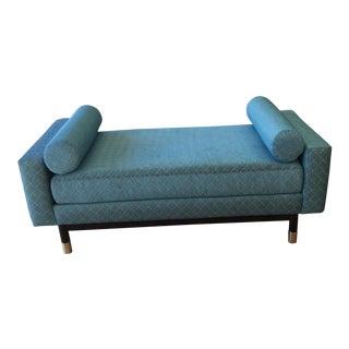 Bespoke Custom Robert Allen Blue Fabric Upholstered Daybed
