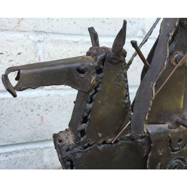 Vintage Mid-Century Jack Hanson for Hanson House Metal Brutalist Horse Sculpture For Sale In Saint Louis - Image 6 of 9
