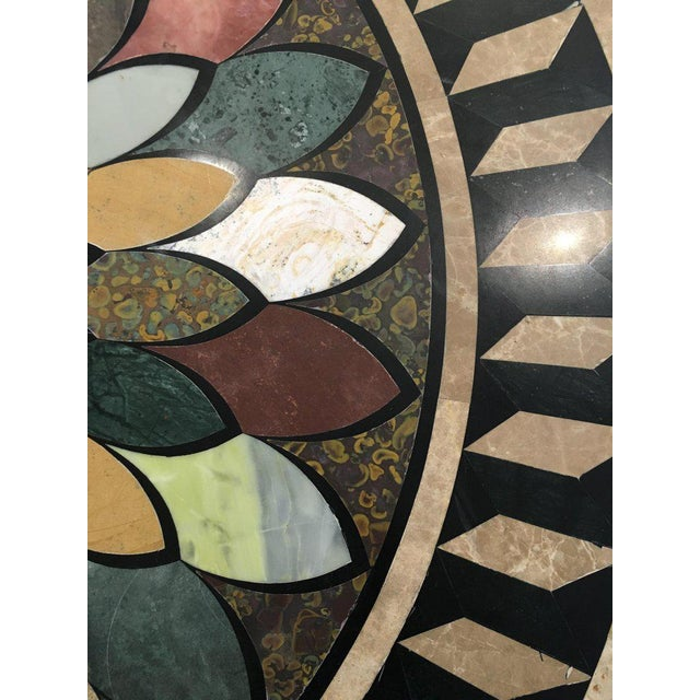 Art Deco Cast Iron Base Table With Pietra Dura Specimen Top For Sale In Nantucket - Image 6 of 12