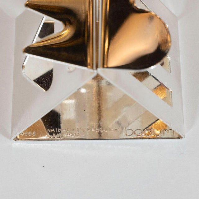 Metal Modernist Memphis Silverplate Napkin Rings by Nathalie Du Pasquier for Bodum - 11 Pc. For Sale - Image 7 of 11