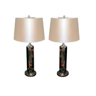 Vintage Chrome Lamps - A Pair