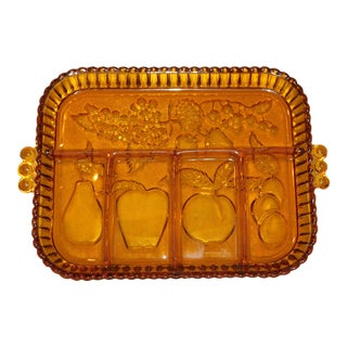 Vintage Indiana Glass Relish Dish For Sale