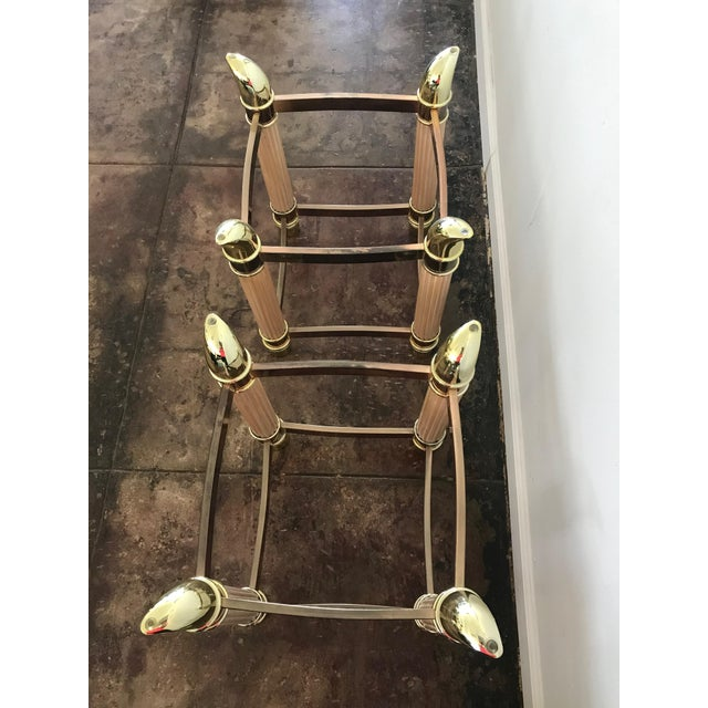 1980s Hollywood Regency Side Table Bases With Tusk Details - a Pair For Sale In Los Angeles - Image 6 of 7