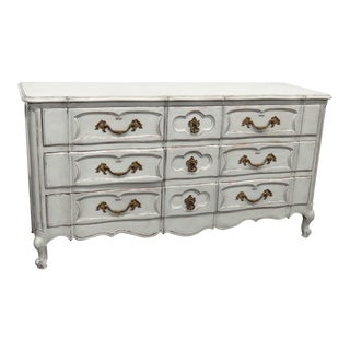 20th Century French Country Painted Decorated Dresser For Sale