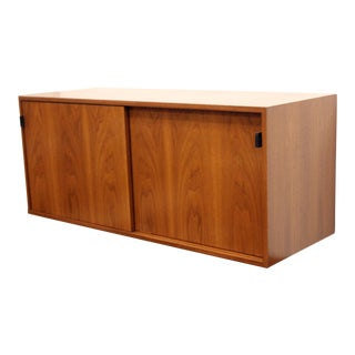 1960s Mid Century Modern Florence Knoll Floating Hanging Wall Mount Cabinet Credenza For Sale