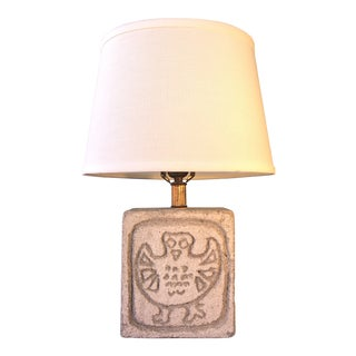 Albert Tormos Style Sculptural Cubist Stone Table Lamp For Sale