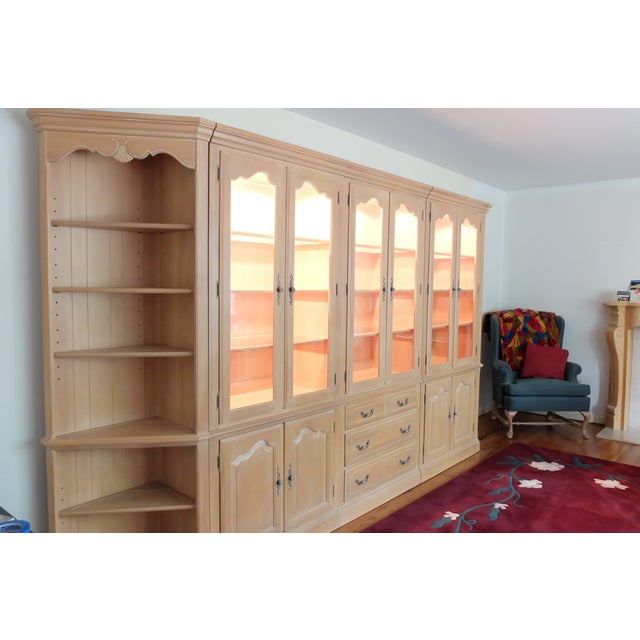 Ethan Allen Lighted Wall Unit | Chairish