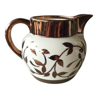 Early 20th Century Vintage Myott Copper Pitcher For Sale