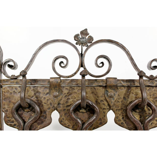 1940s Vintage French Art Deco Wrought Iron Fireplace Tool Set - 4 Pieces For Sale In Detroit - Image 6 of 10