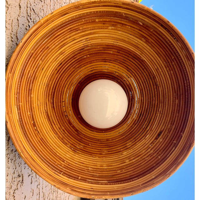 Vintage Bamboo Indoor/Outdoor Ceiling Light For Sale - Image 12 of 12