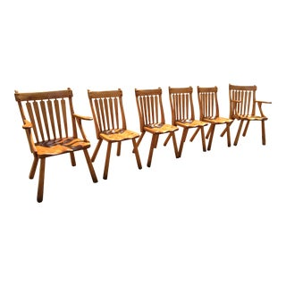 1930s Vintage Cushman Arts and Craft Chairs - Set of 6 For Sale