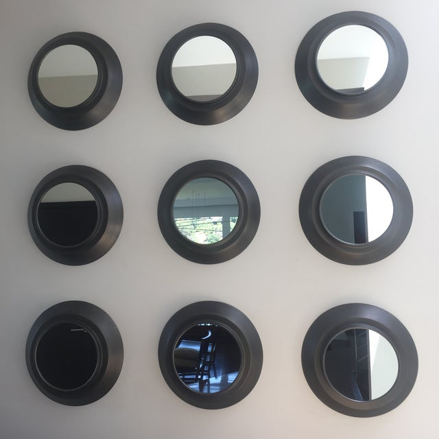 Industrial Circular Metal Wall Mirrors- Set of 9 - Image 2 of 6