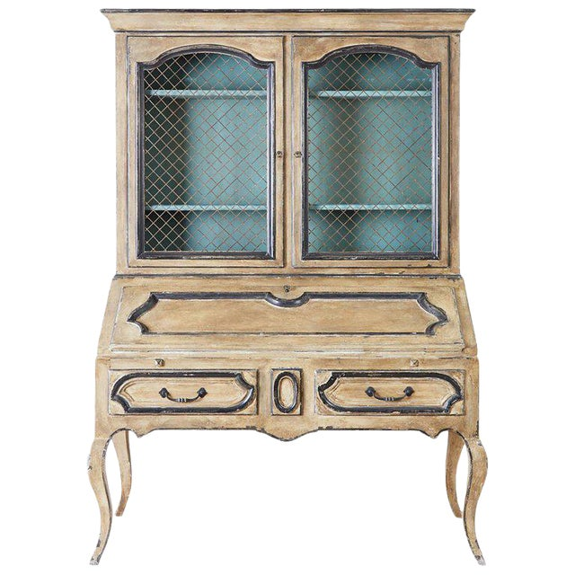 Swedish Gustavian Style Two-Part Secretaire Bookcase For Sale