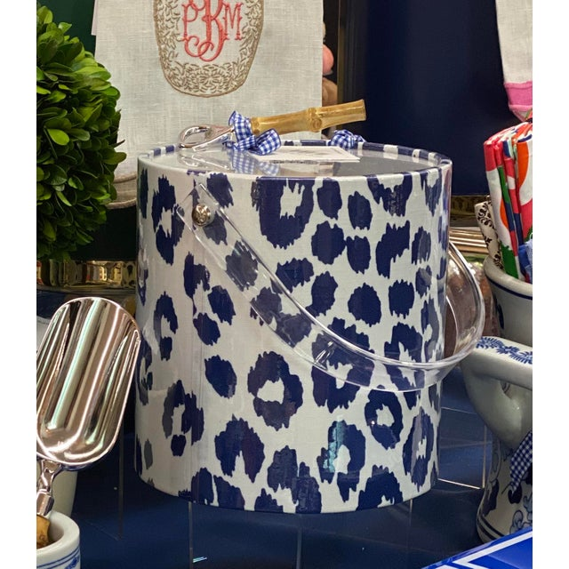 This stylish and chic 3 quart ice bucket features Iconic Leopard Fabric from F. Schumacher with a plastic coating. The...