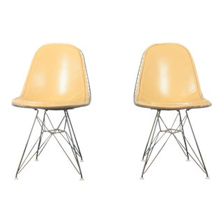Herman Miller Pair of Wire Chairs For Sale