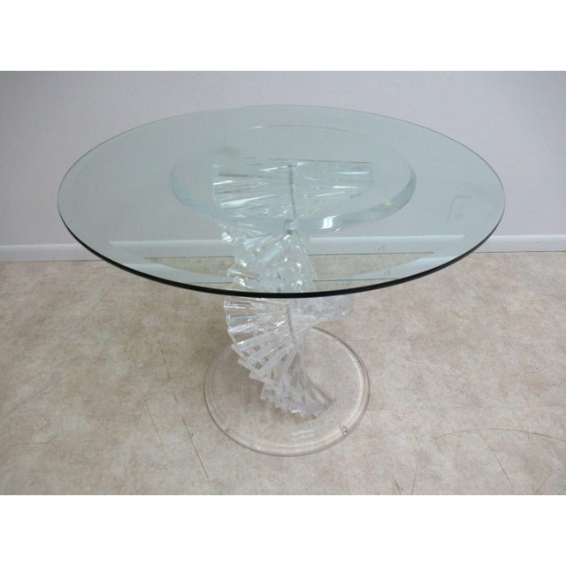 Mid-Century Modern Vintage Interior Concepts Stack Lucite Dinette Dining Table For Sale - Image 3 of 11
