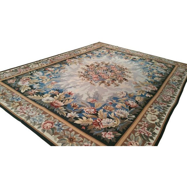 Needlepoint Handmade Rug - Infuse a touch of elegance to high-traffic areas of your home with this durable French Style...