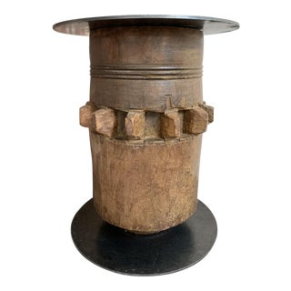 20th Century Industrial Hardwood Cog Stool For Sale