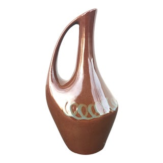 Vintage Modernist Pottery Pitcher For Sale