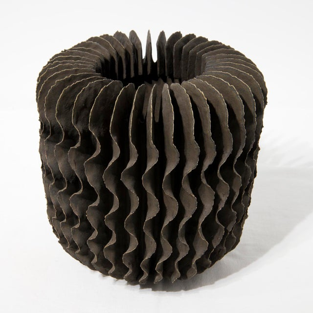 Brown Ceramic Sculptural Vase by Ursula Morley-Price, Circa 2000 For Sale - Image 8 of 8